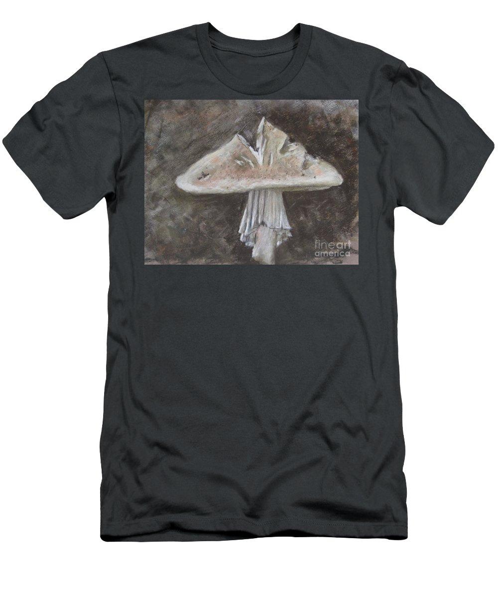 Mushroom Men's T-Shirt (Athletic Fit) featuring the painting Wild Mushroom 2 by Elizabeth Ellis