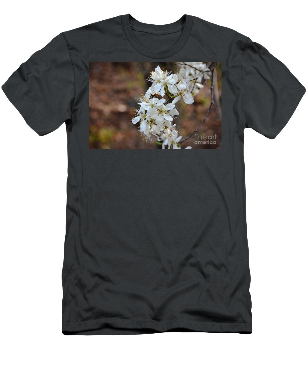 Blooms Men's T-Shirt (Athletic Fit) featuring the photograph Wild Plum Blooms by Deanna Cagle