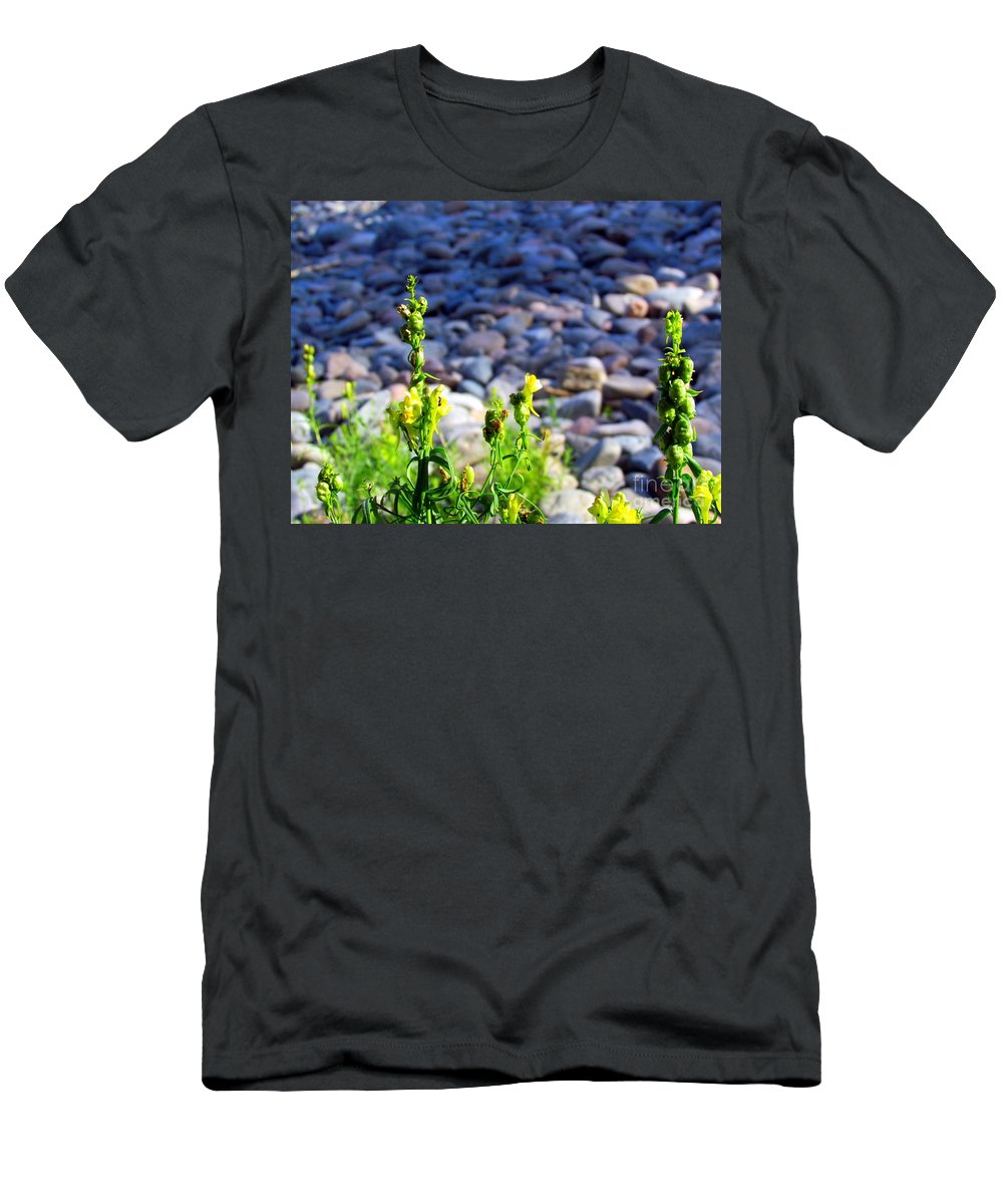 Wild Snapdragons Men's T-Shirt (Athletic Fit) featuring the photograph Wild Snapdragons by Elizabeth Dow