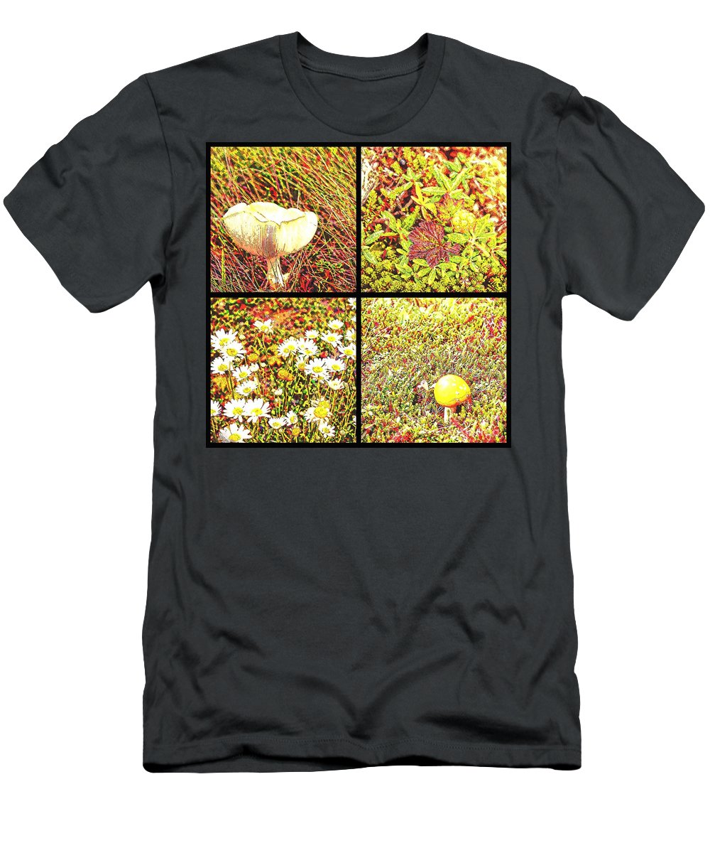 Wild Things Growing Near The Beach Men's T-Shirt (Athletic Fit) featuring the photograph Wild Things Growing Near The Beach by Barbara Griffin