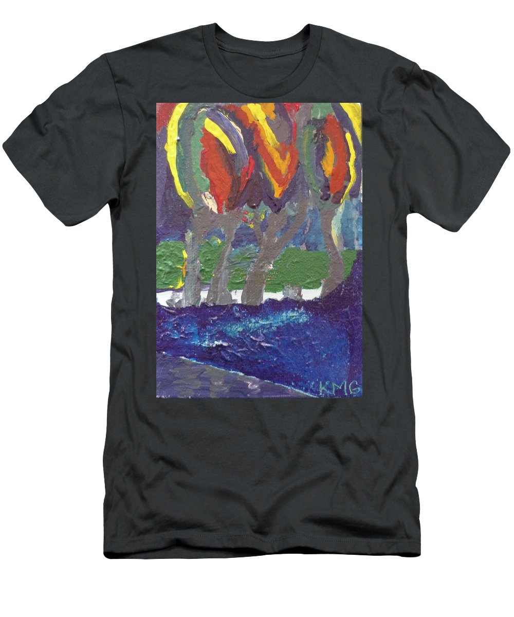Abstract Men's T-Shirt (Athletic Fit) featuring the painting Wild Things by Kimberly Maxwell Grantier