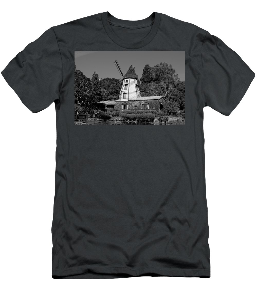 Waterfall Men's T-Shirt (Athletic Fit) featuring the photograph Windmill 3 by Richard J Cassato