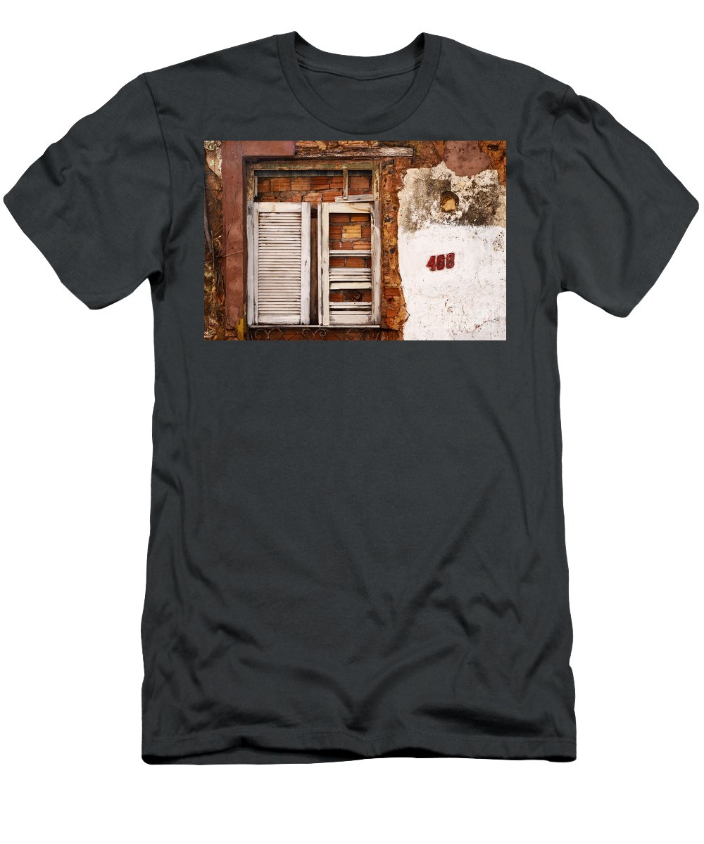 Window Men's T-Shirt (Athletic Fit) featuring the photograph Windows Of Alcantara Brazil 1 by Bob Christopher