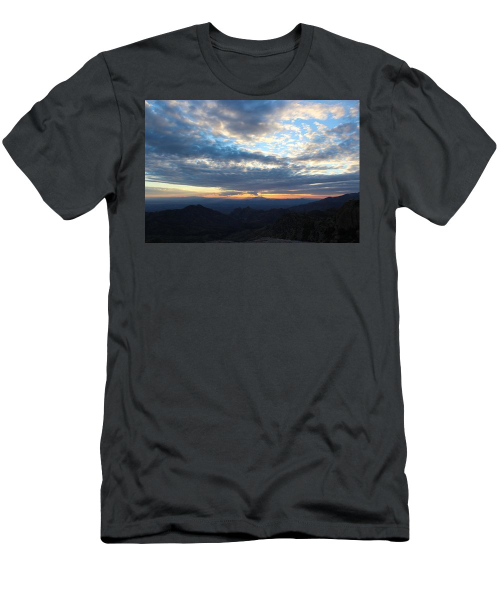 Windy Point Sunset Men's T-Shirt (Athletic Fit) featuring the photograph Windy Point Sunset by Kume Bryant