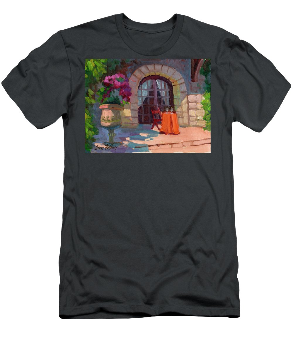 Wine For Two Men's T-Shirt (Athletic Fit) featuring the painting Wine For Two by Diane McClary