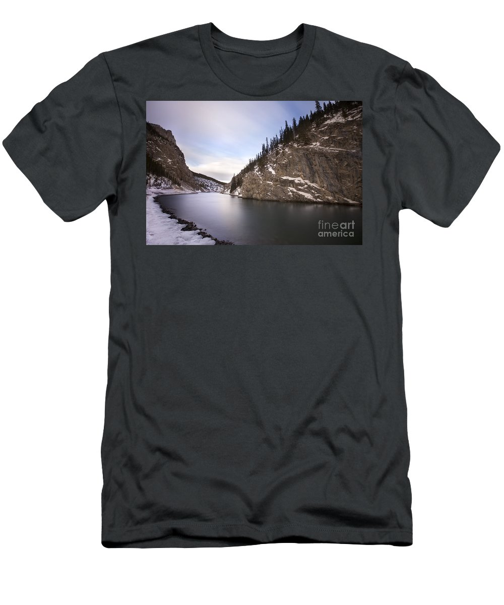 Canmore T-Shirt featuring the photograph Winter Calm by Evelina Kremsdorf