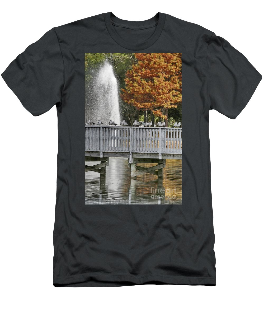 Winter Men's T-Shirt (Athletic Fit) featuring the photograph Winter In Florida by Deborah Benoit