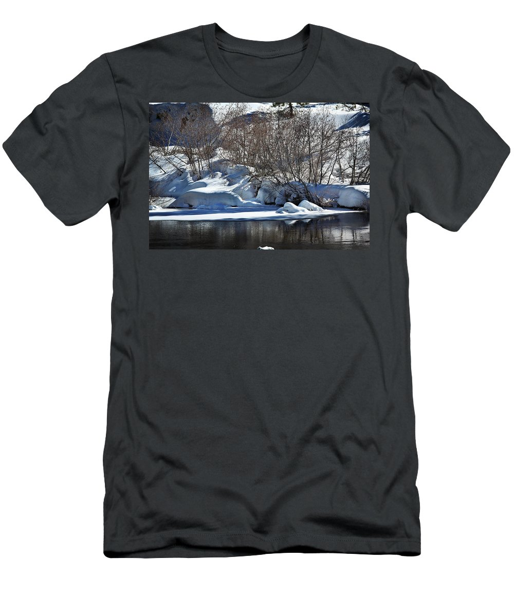 Snow Men's T-Shirt (Athletic Fit) featuring the photograph Winter Wonderland by Shawn McMillan