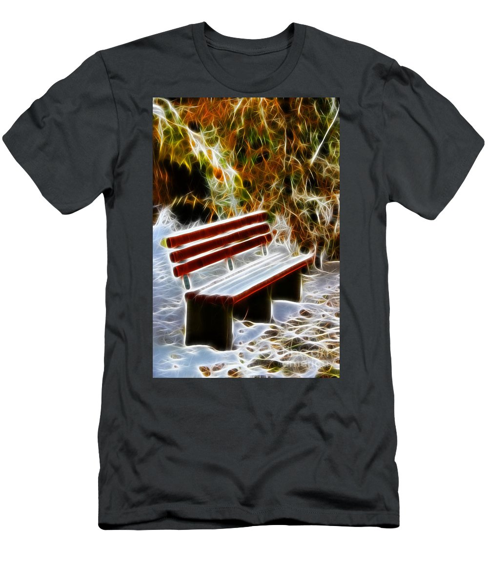 Winters Dream Men's T-Shirt (Athletic Fit) featuring the photograph Winters Dream by Mariola Bitner