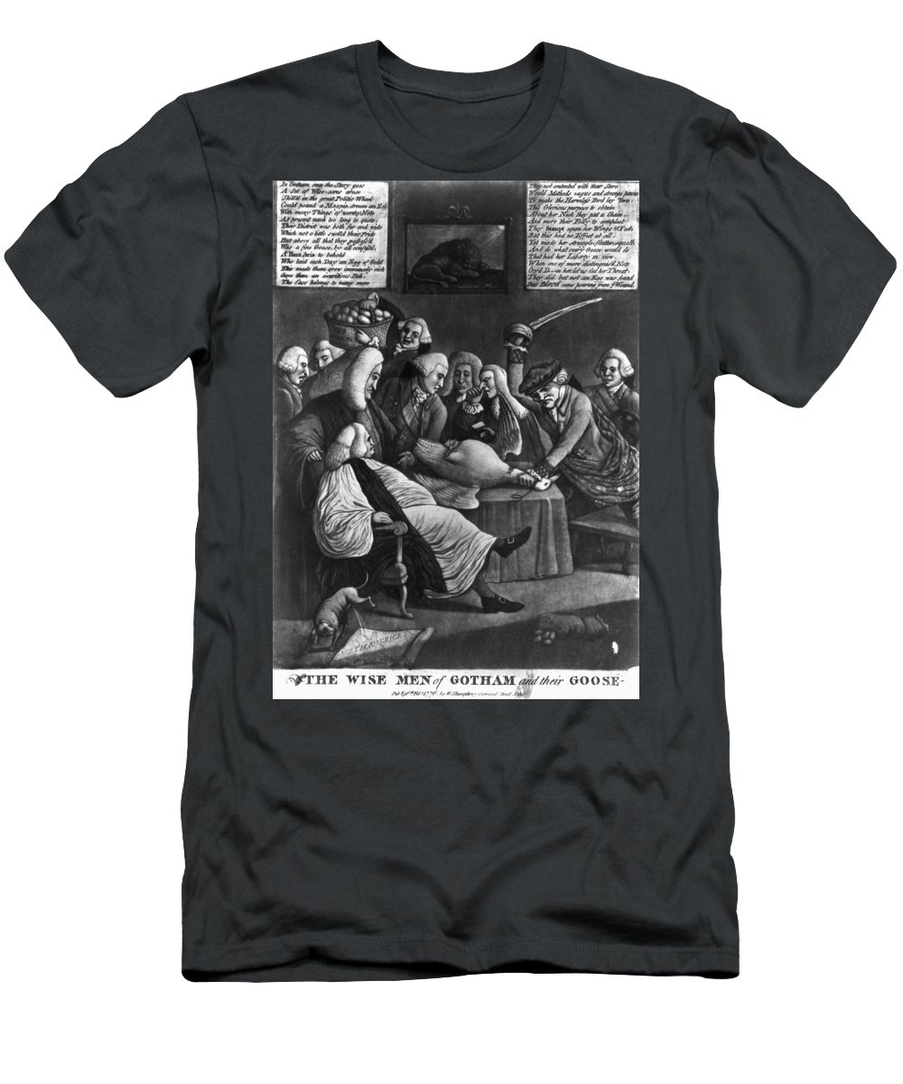 1776 Men's T-Shirt (Athletic Fit) featuring the photograph Wise Men Of Gotham, 1776 by Granger