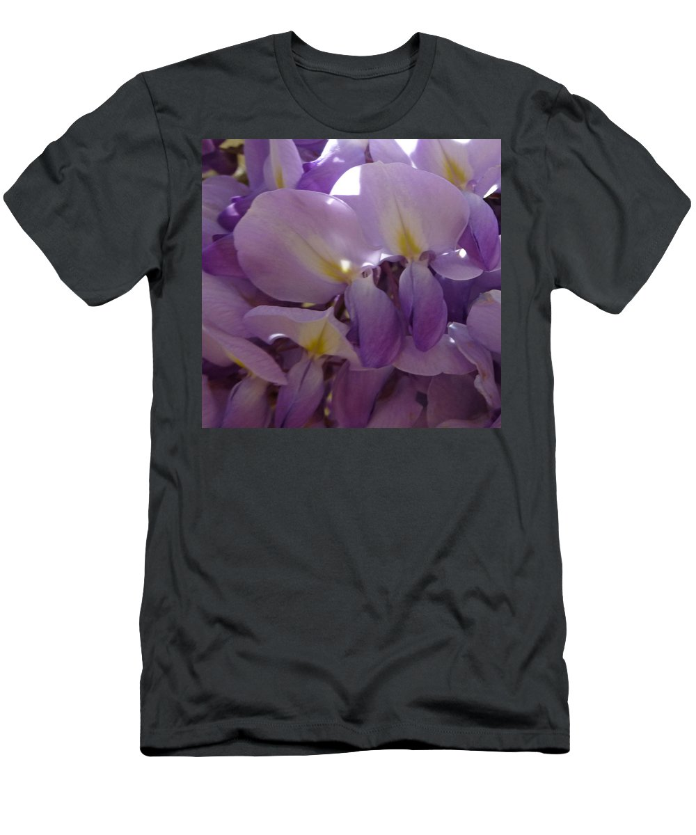 Purple Men's T-Shirt (Athletic Fit) featuring the photograph Wisteria Duo by Claudia Goodell