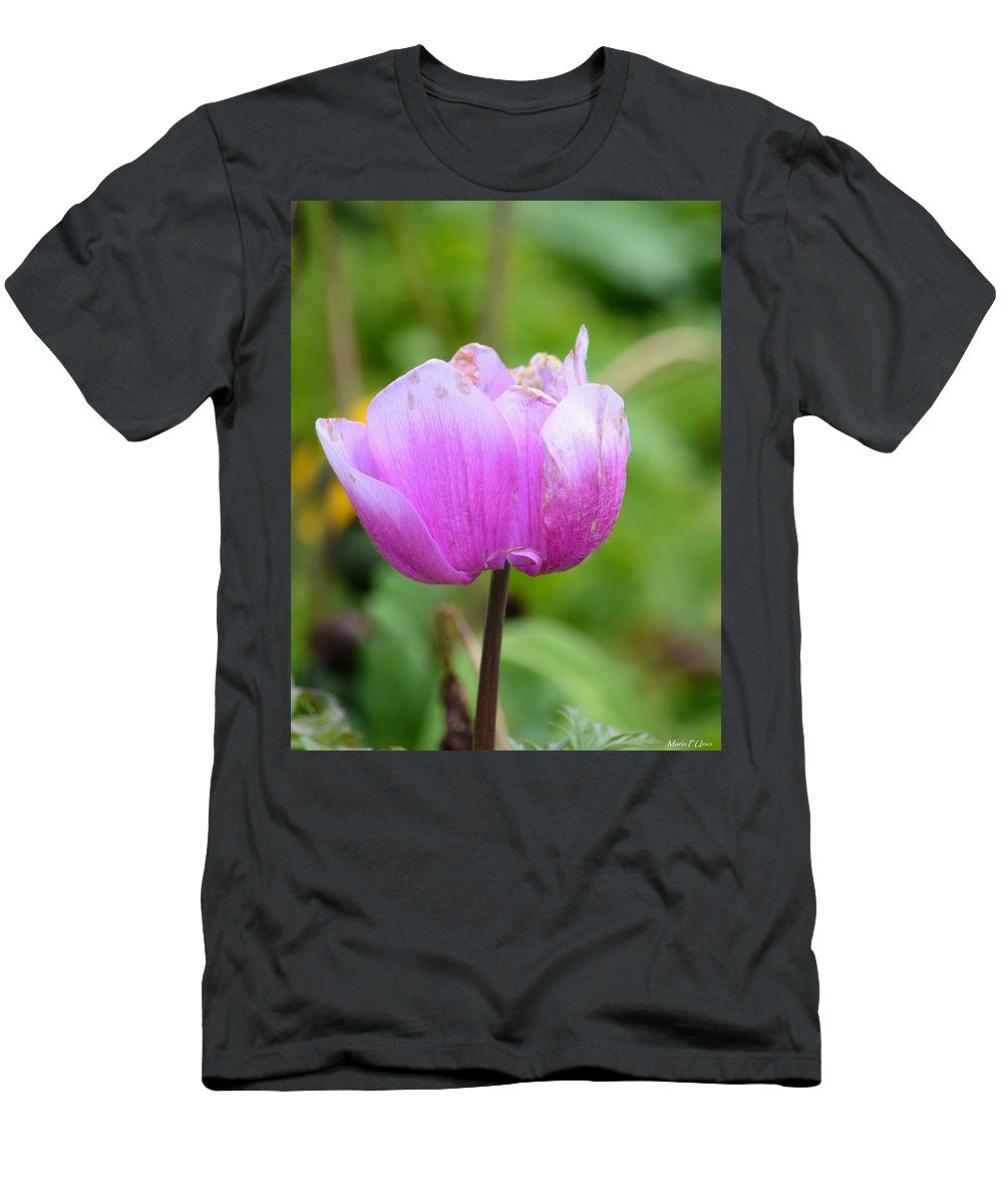 Wistfully Pink Men's T-Shirt (Athletic Fit) featuring the photograph Wistfully Pink by Maria Urso