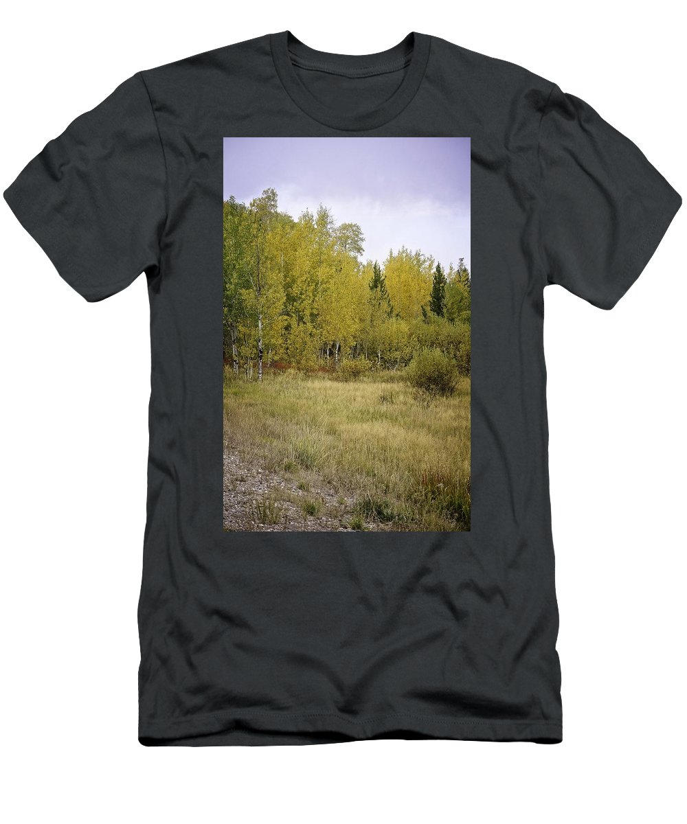 Idaho Men's T-Shirt (Athletic Fit) featuring the photograph Woodlands by Image Takers Photography LLC - Laura Morgan