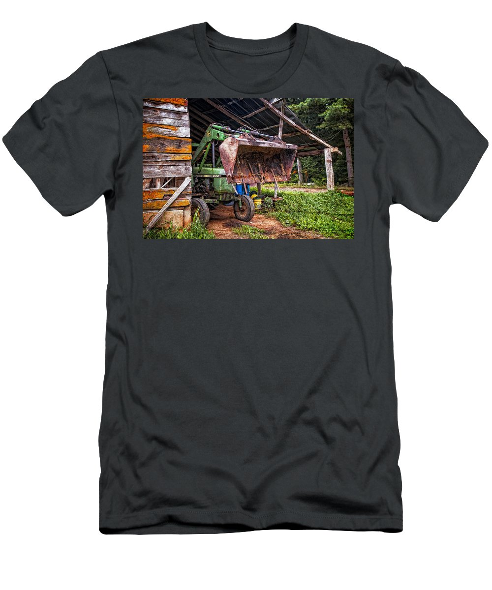2550 Men's T-Shirt (Athletic Fit) featuring the photograph Workhorse by Debra and Dave Vanderlaan