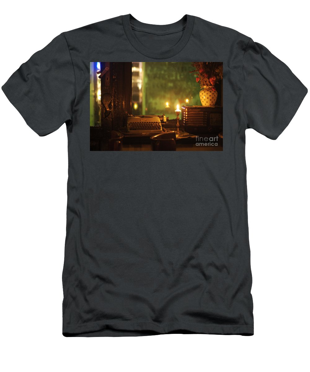 Writer Men's T-Shirt (Athletic Fit) featuring the photograph Writer's Dream by Lana Enderle