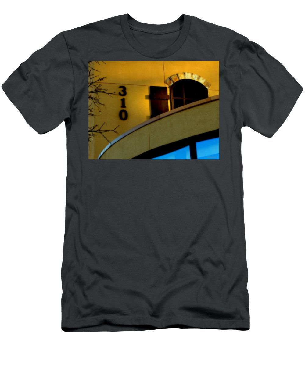 Rightfromtheart Men's T-Shirt (Athletic Fit) featuring the photograph Yellow And Blue by Bob and Kathy Frank