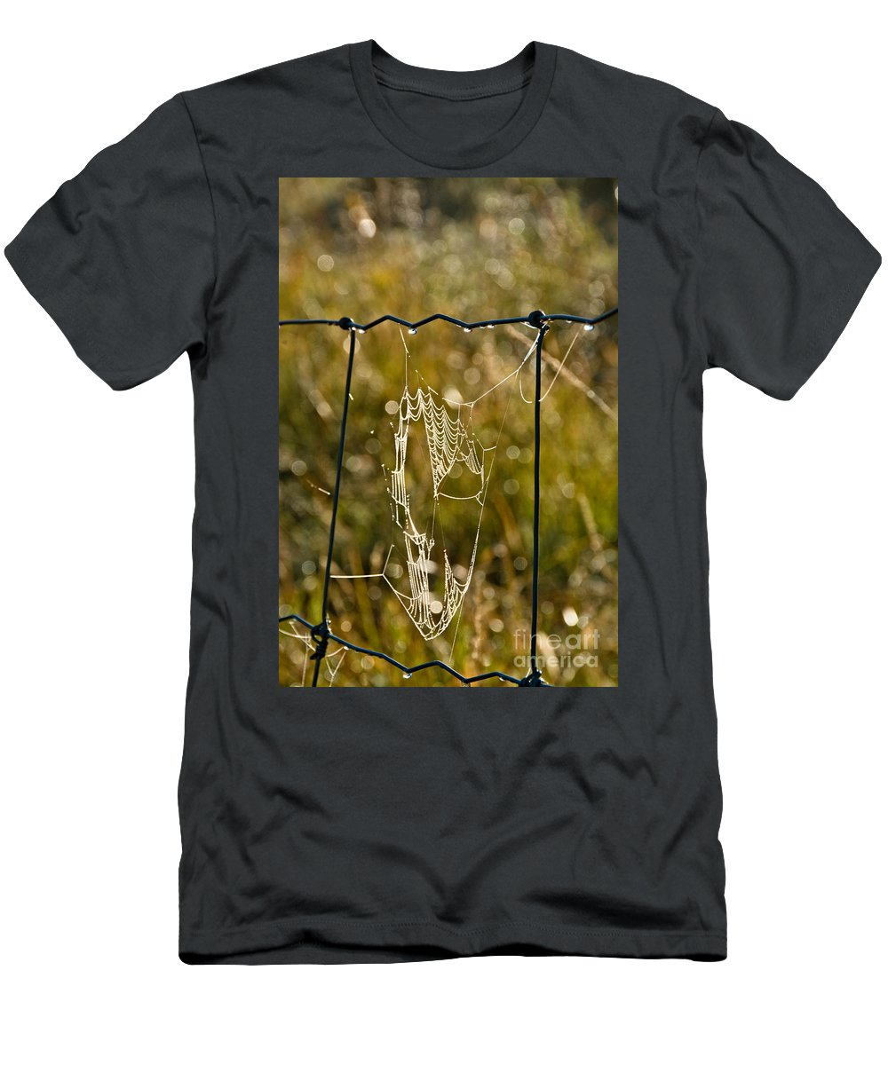 Men's T-Shirt (Athletic Fit) featuring the photograph Yesterdays Web by Cheryl Baxter