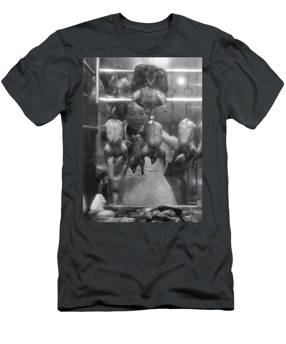 Vancouver Men's T-Shirt (Athletic Fit) featuring the photograph You Chicken by The Artist Project