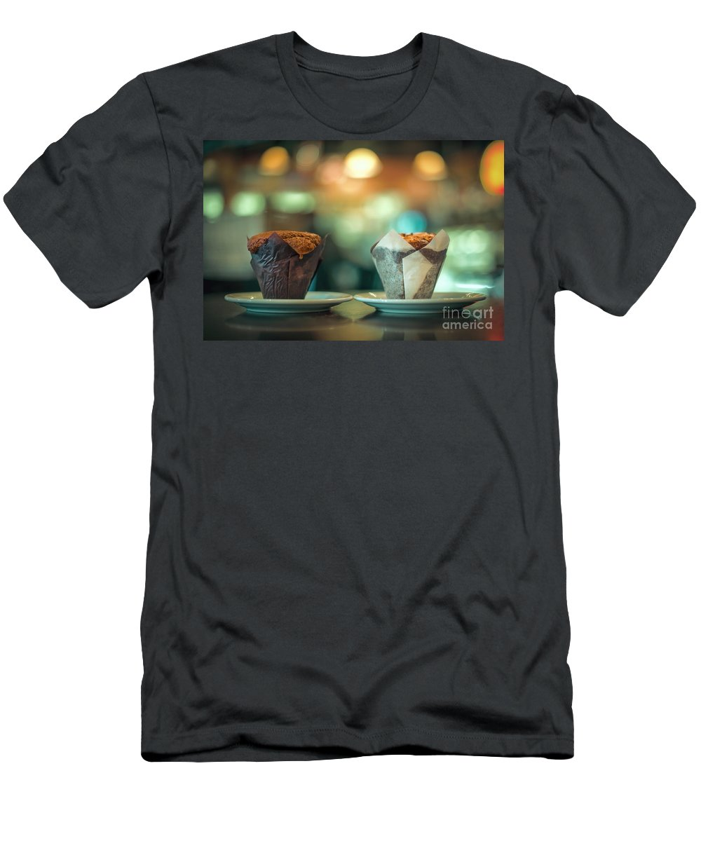 Cupcake Men's T-Shirt (Athletic Fit) featuring the photograph Your Sweetness Is My Weakness by Evelina Kremsdorf