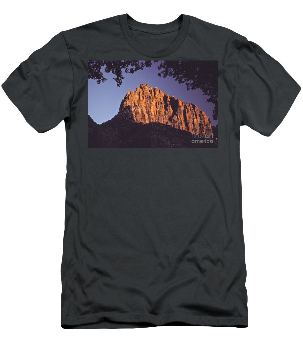 Zion Men's T-Shirt (Athletic Fit) featuring the photograph Zion National Park by Howard Stapleton