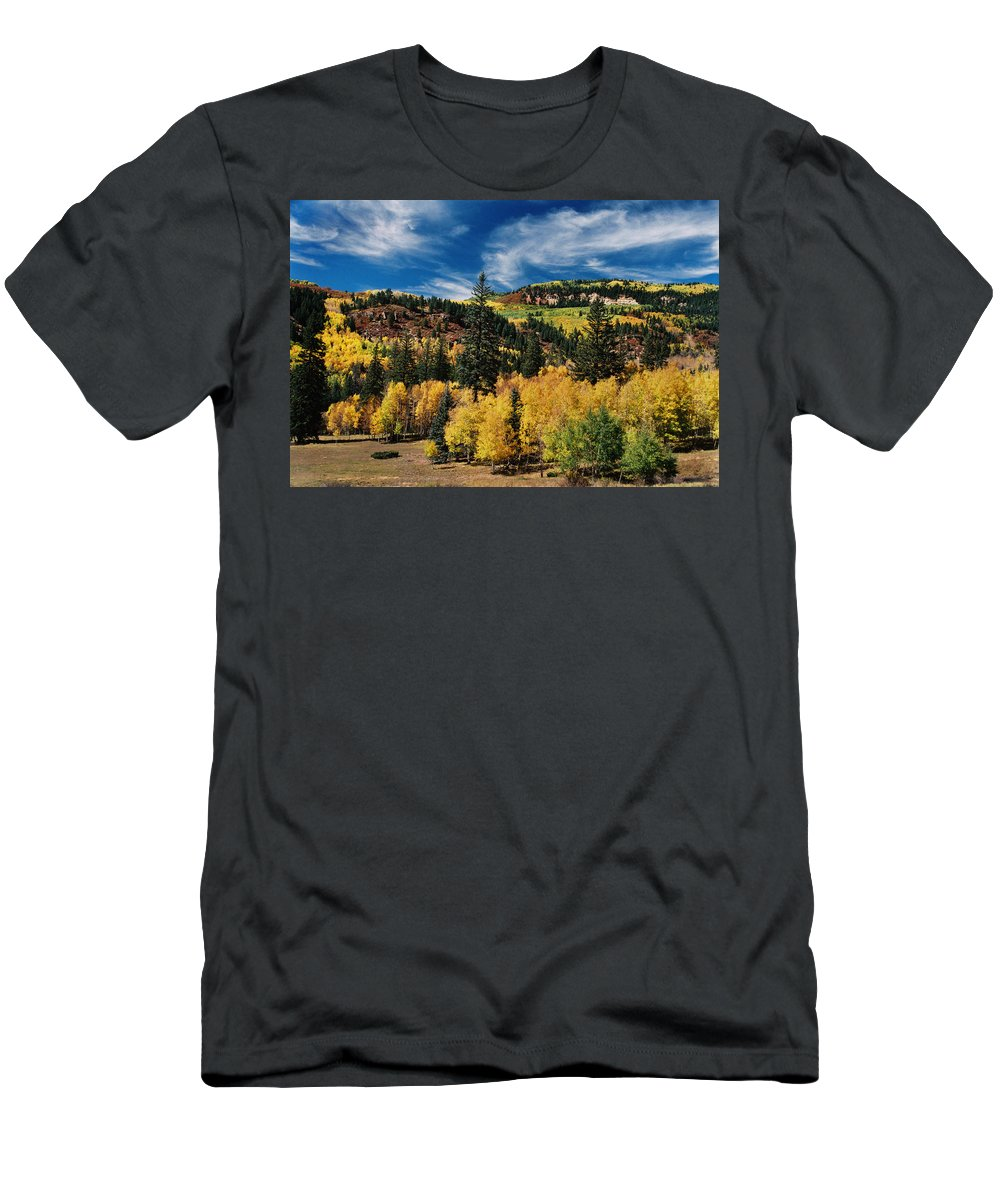 Chama Men's T-Shirt (Athletic Fit) featuring the photograph Patchwork by Ron Weathers