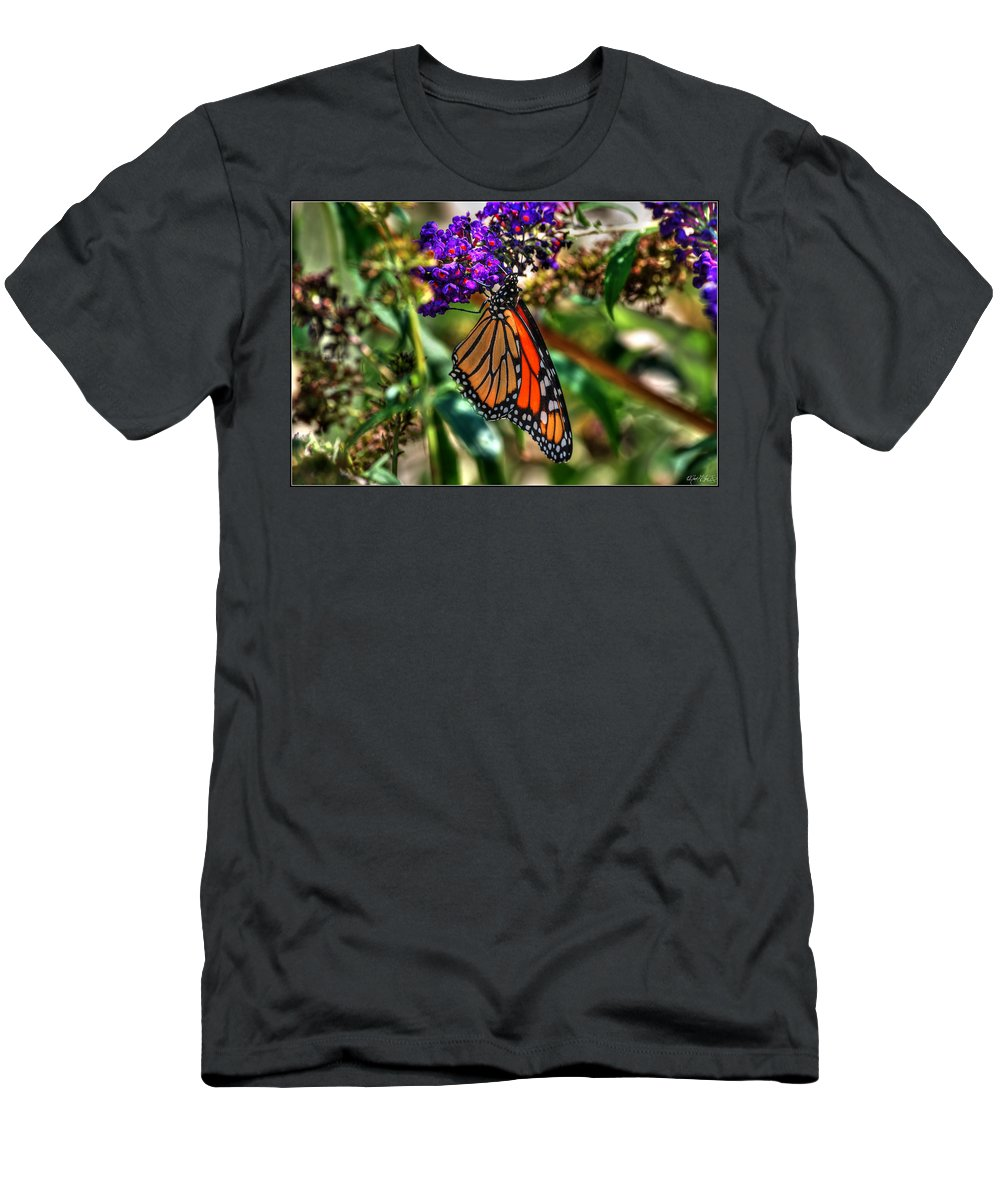 Men's T-Shirt (Athletic Fit) featuring the photograph 011 Making Things New Via The Butterfly Series by Michael Frank Jr