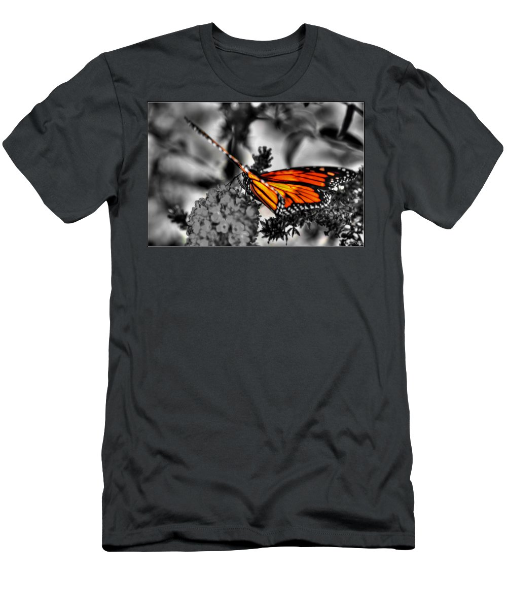 Men's T-Shirt (Athletic Fit) featuring the photograph 014 Making Things New Via The Butterfly Series by Michael Frank Jr