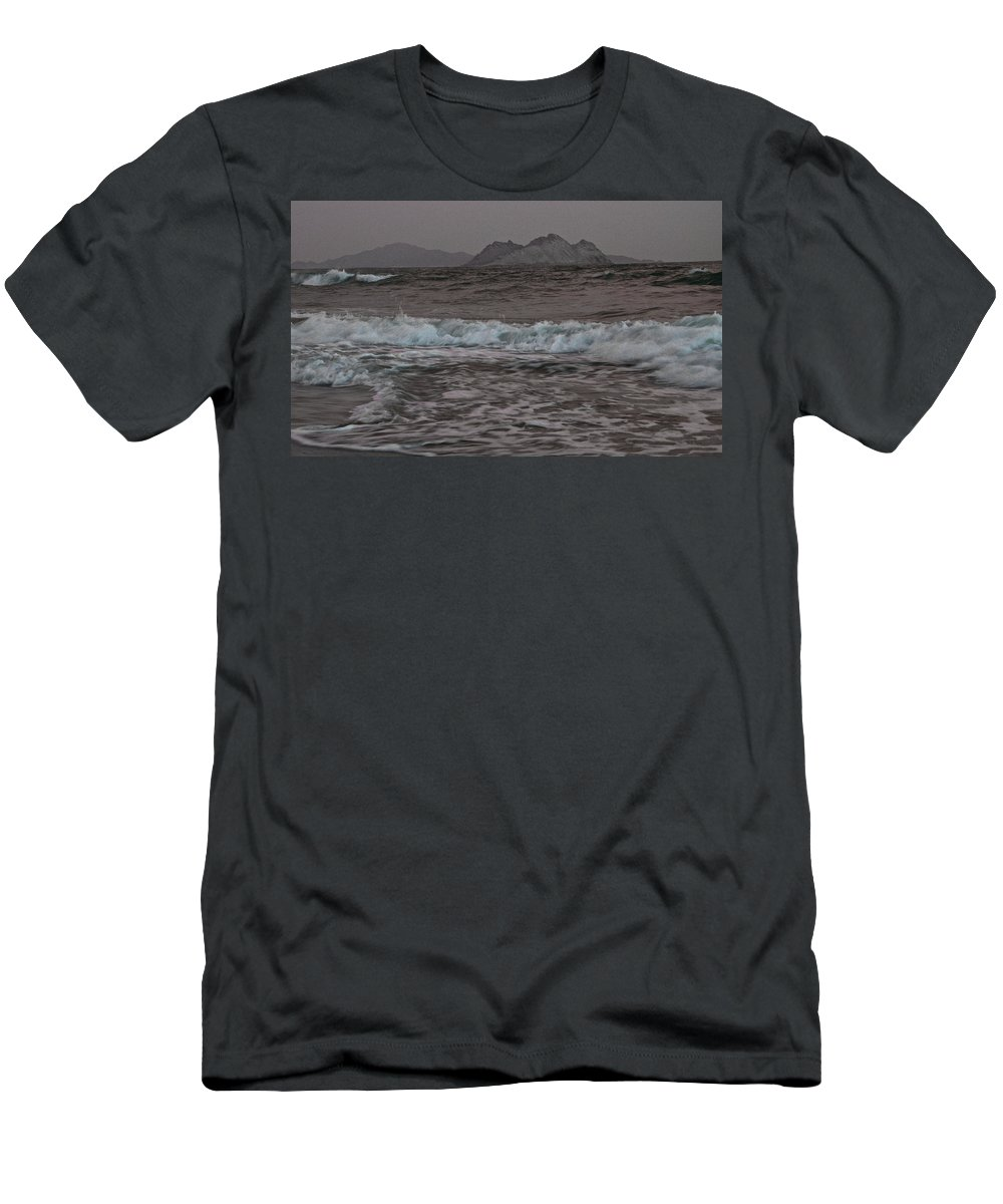 Abstract Men's T-Shirt (Athletic Fit) featuring the photograph Abstract Kino Bay by David Resnikoff