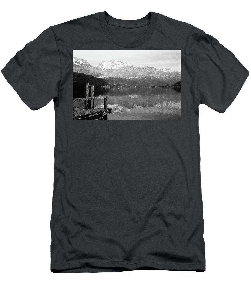 Landscapes Men's T-Shirt (Athletic Fit) featuring the photograph Annecy The Lake by Olivier De Rycke