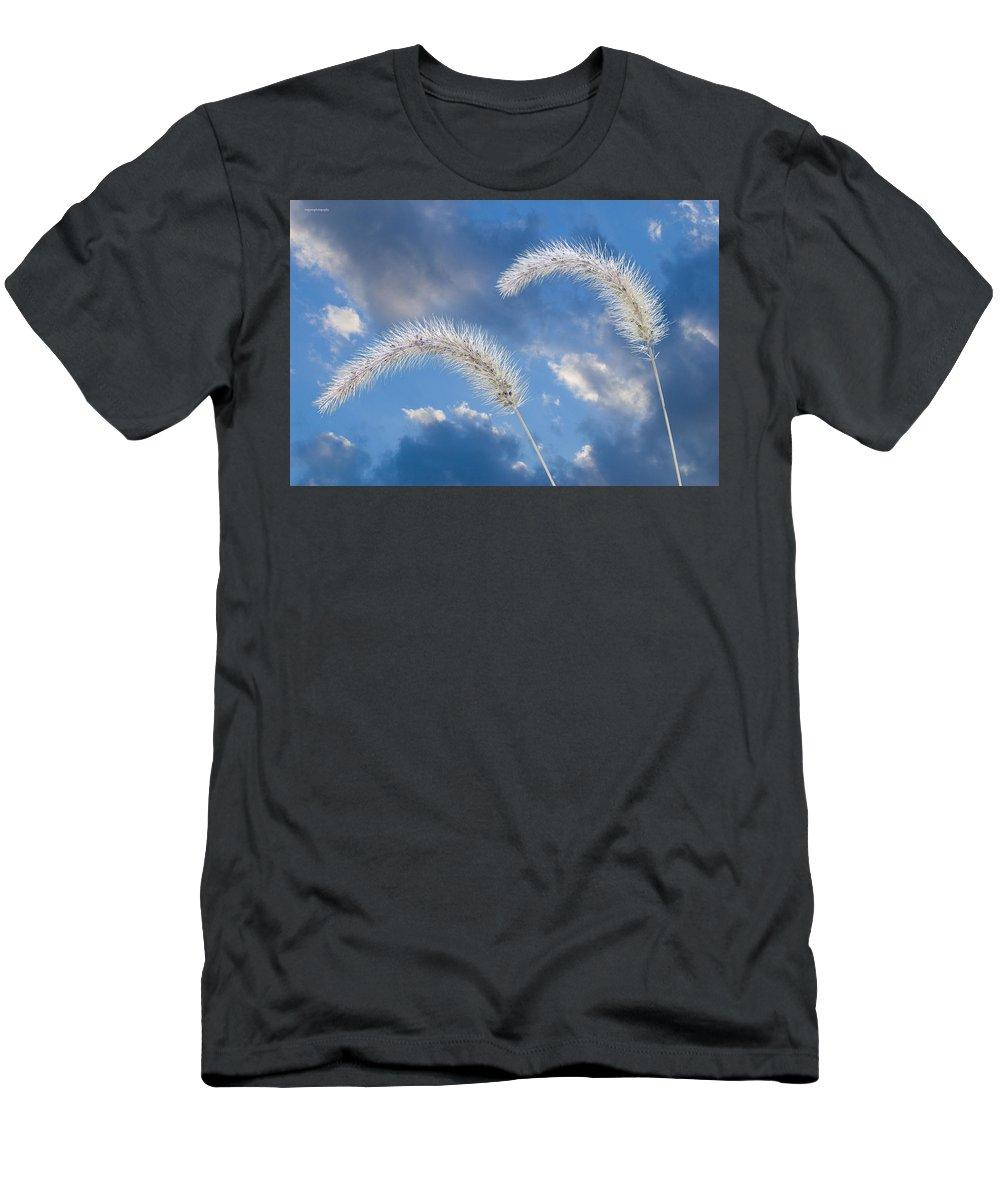 Ron Jones Men's T-Shirt (Athletic Fit) featuring the photograph Autumn Breeze by Ron Jones