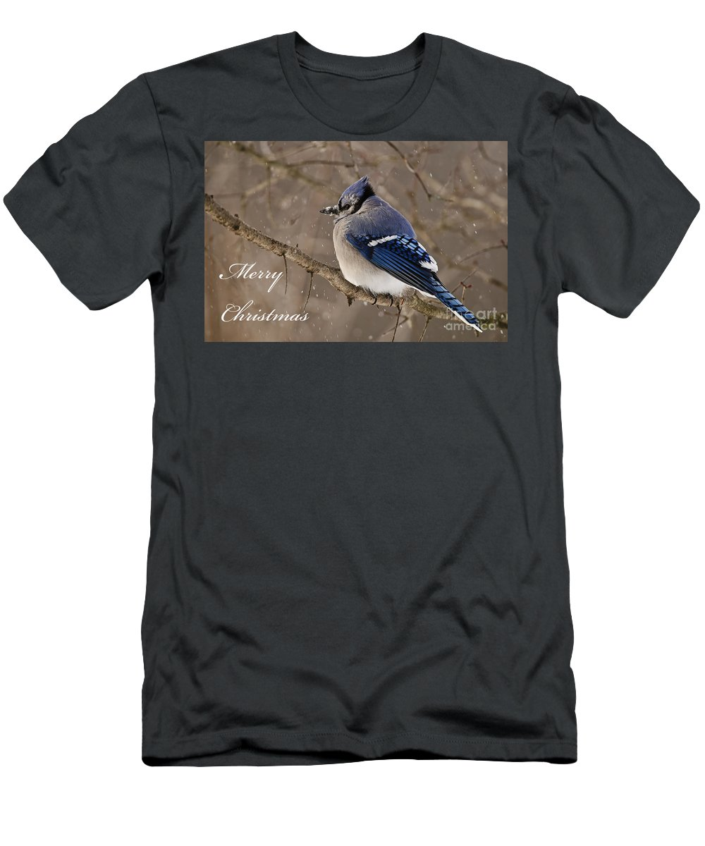 Seasonal Cards Men's T-Shirt (Athletic Fit) featuring the photograph Christmas 2 by Michael Cummings