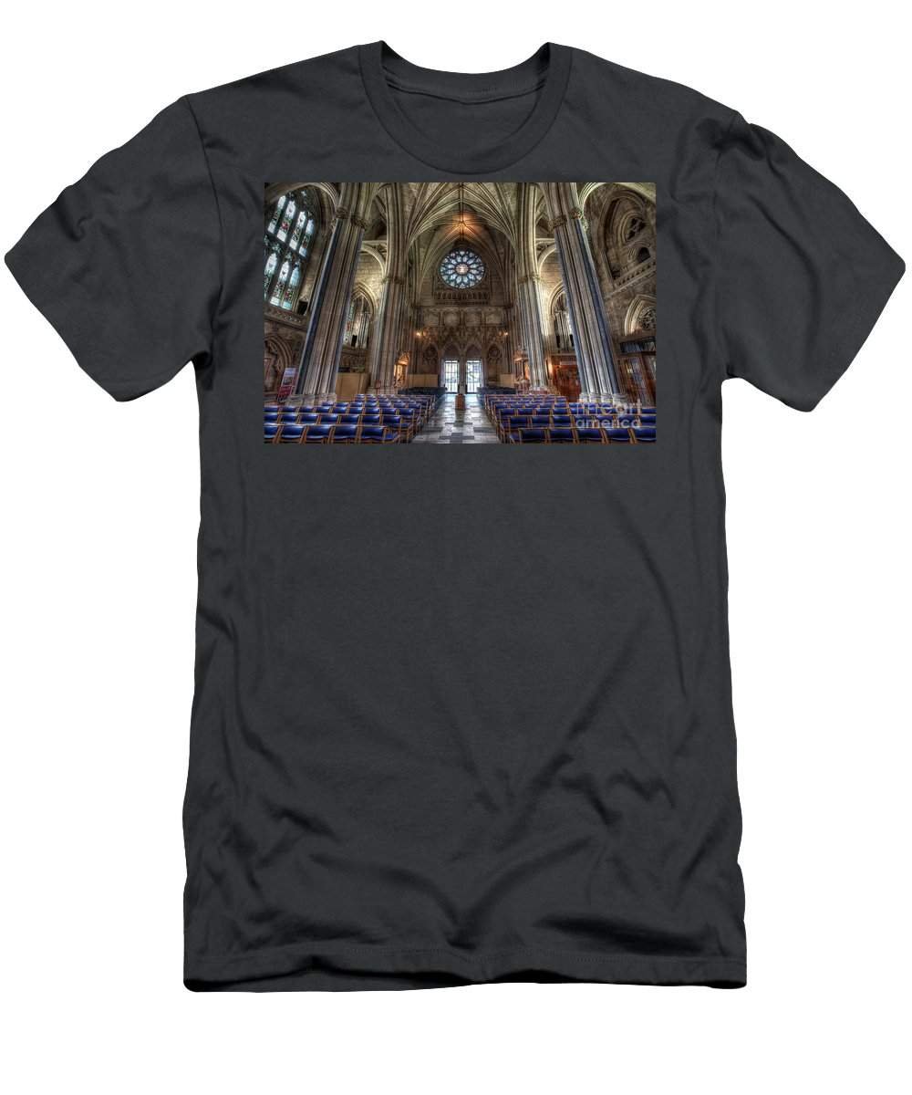 Architecture Men's T-Shirt (Athletic Fit) featuring the photograph Church Of England by Adrian Evans
