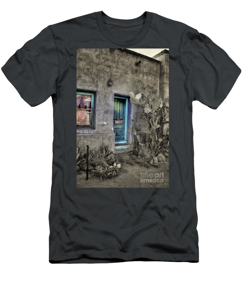 Men's T-Shirt (Athletic Fit) featuring the photograph Doorway by Larry White