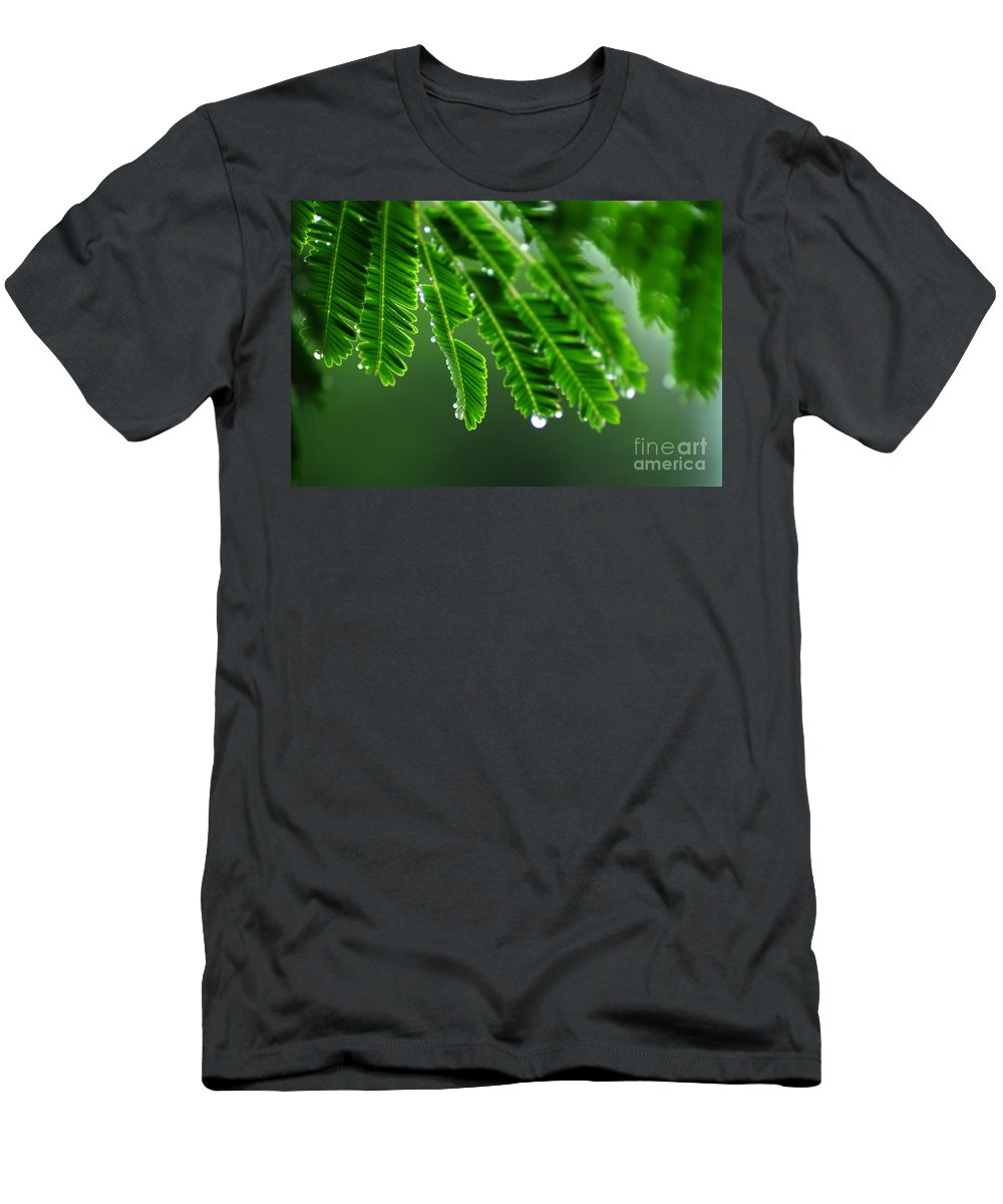 Green Men's T-Shirt (Athletic Fit) featuring the photograph Fresh by Dattaram Gawade