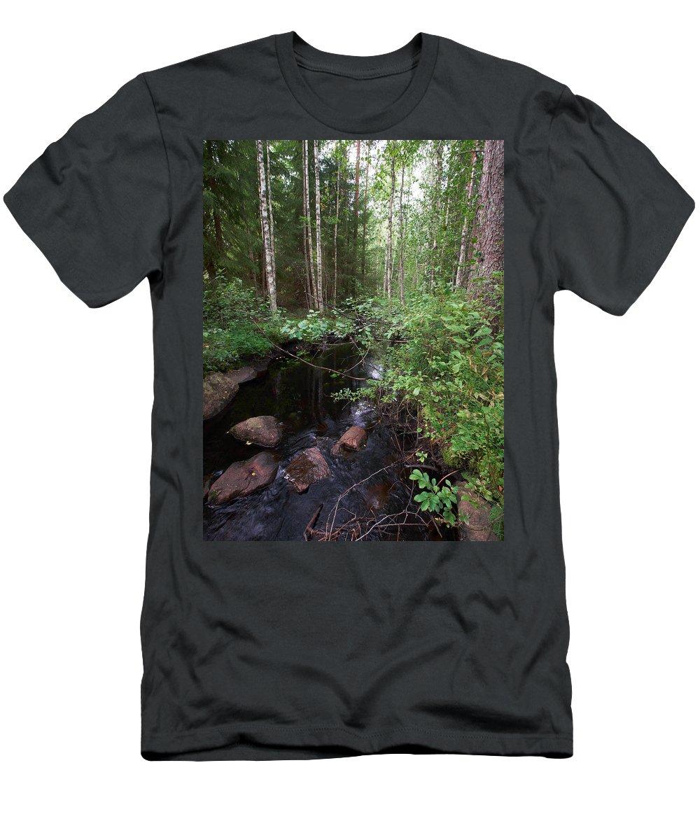 Lehtokukka Men's T-Shirt (Athletic Fit) featuring the photograph Kovero by Jouko Lehto