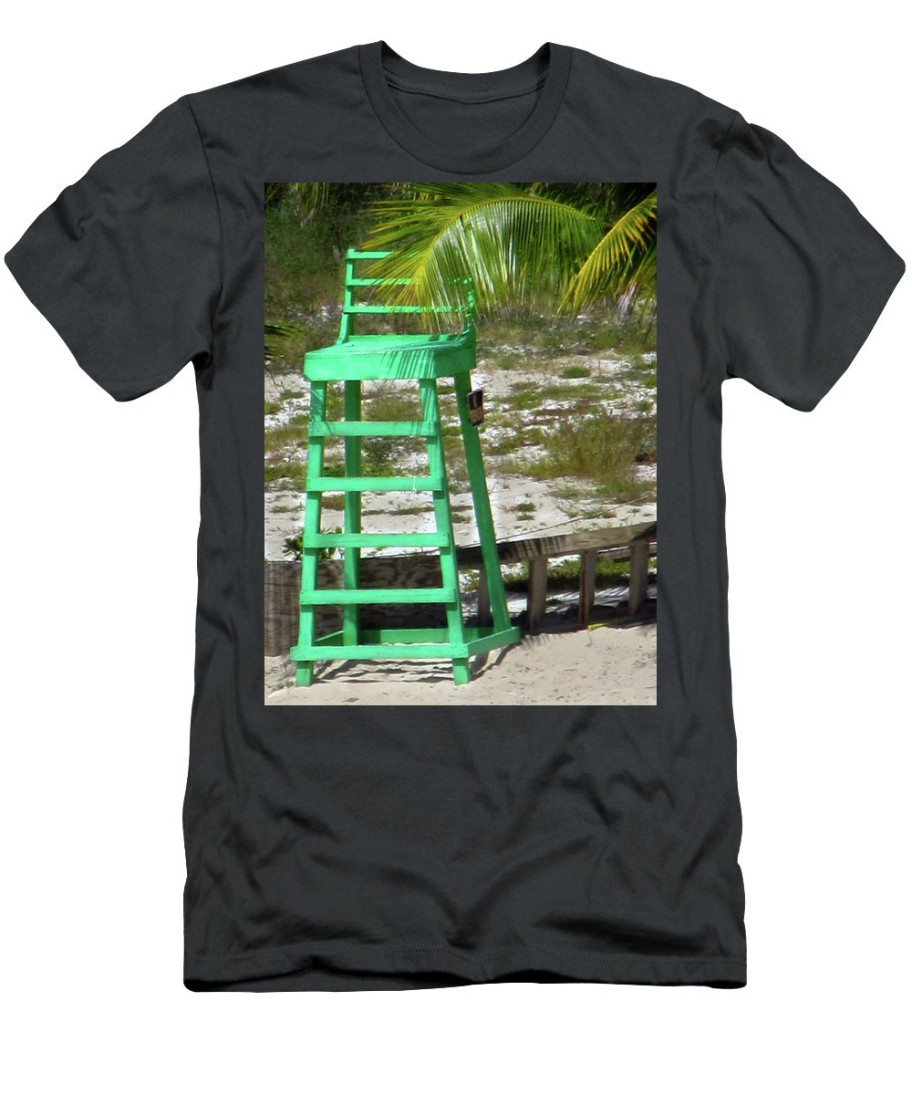 Lifeguard Chair Men's T-Shirt (Athletic Fit) featuring the photograph Lifeguard Chair by Denise Keegan Frawley