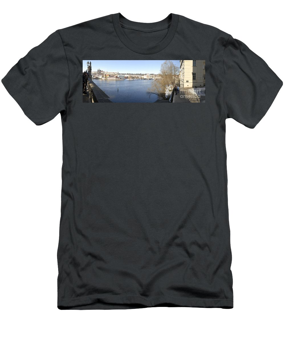 Czech Republic Men's T-Shirt (Athletic Fit) featuring the photograph Prague Czech Republic by Eyal Fischer