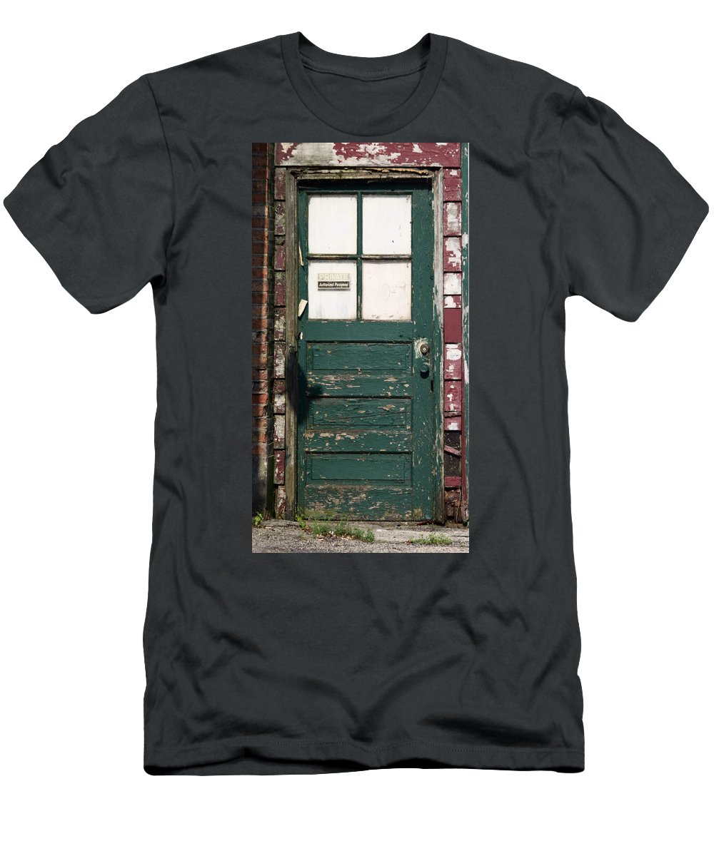 Door Men's T-Shirt (Athletic Fit) featuring the photograph Private by Lauri Novak