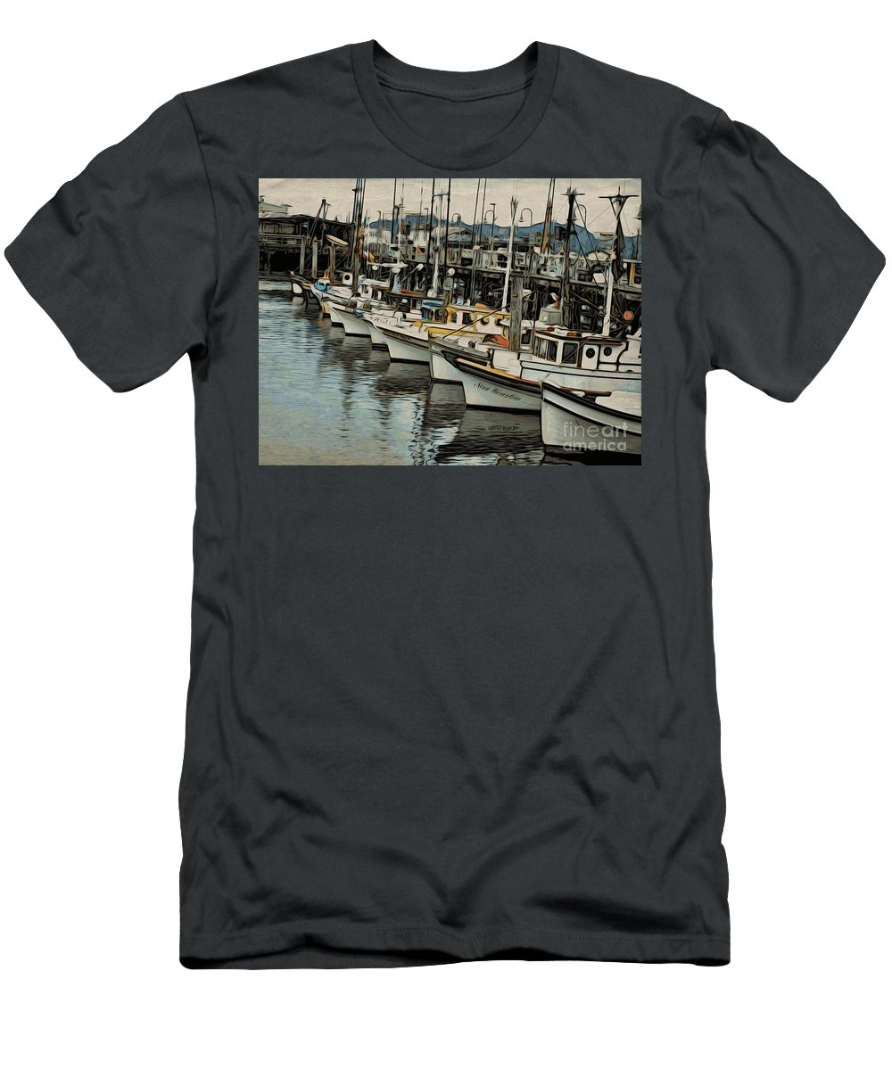 Water Men's T-Shirt (Athletic Fit) featuring the photograph Safe Harbor 2 by Jacklyn Duryea Fraizer