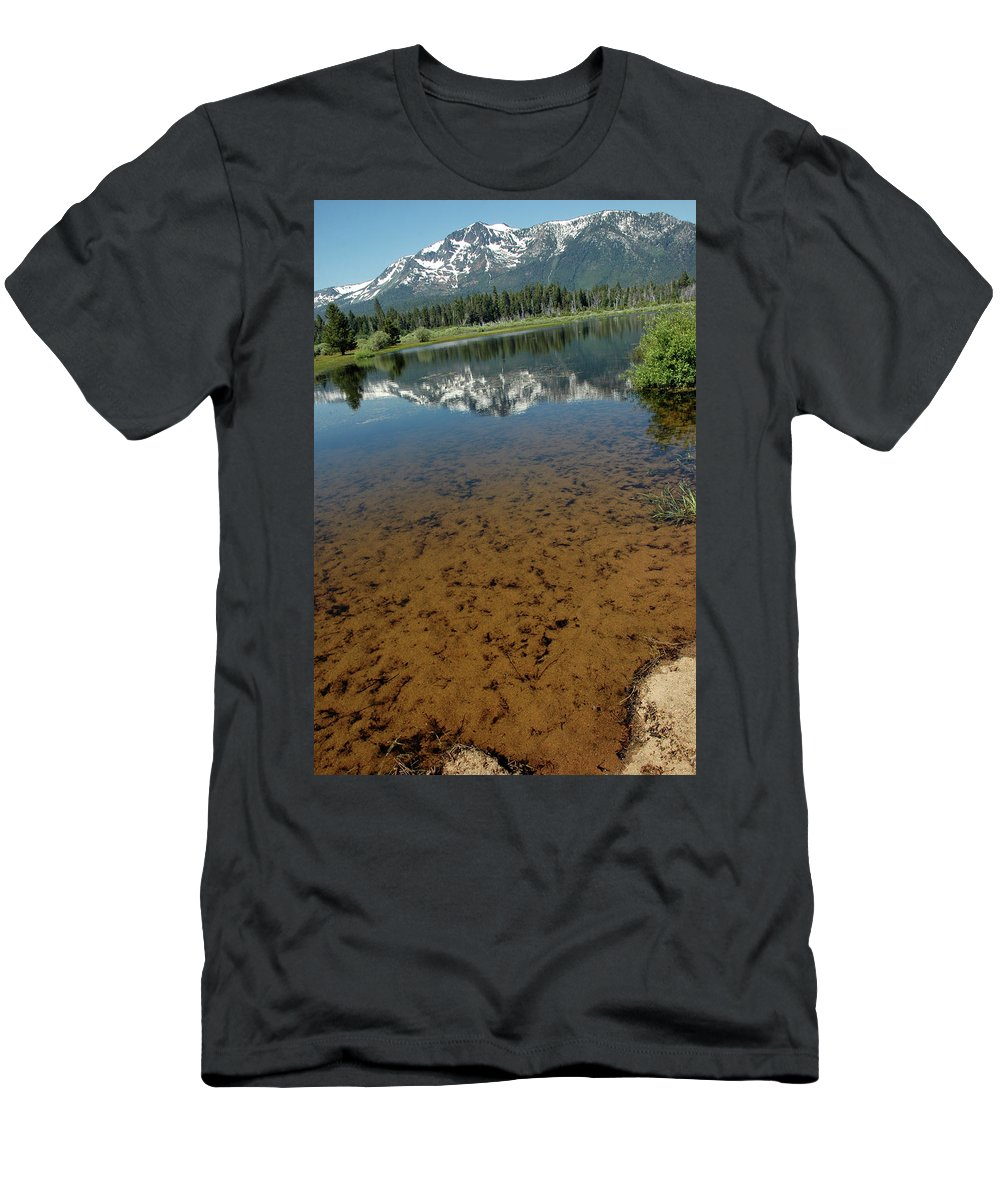 Usa Men's T-Shirt (Athletic Fit) featuring the photograph Shallow Water Reflections by LeeAnn McLaneGoetz McLaneGoetzStudioLLCcom