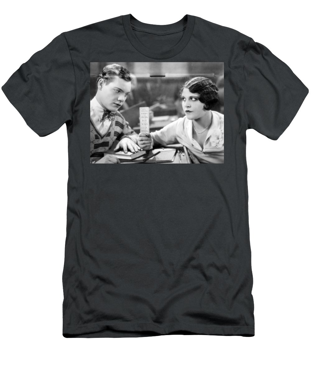1929 Men's T-Shirt (Athletic Fit) featuring the photograph Silent Film Still: School by Granger