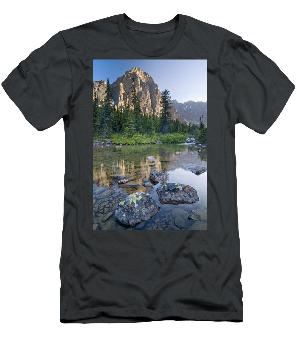 Banff Men's T-Shirt (Athletic Fit) featuring the photograph Taylor Lake, Banff National Park by Philippe Widling