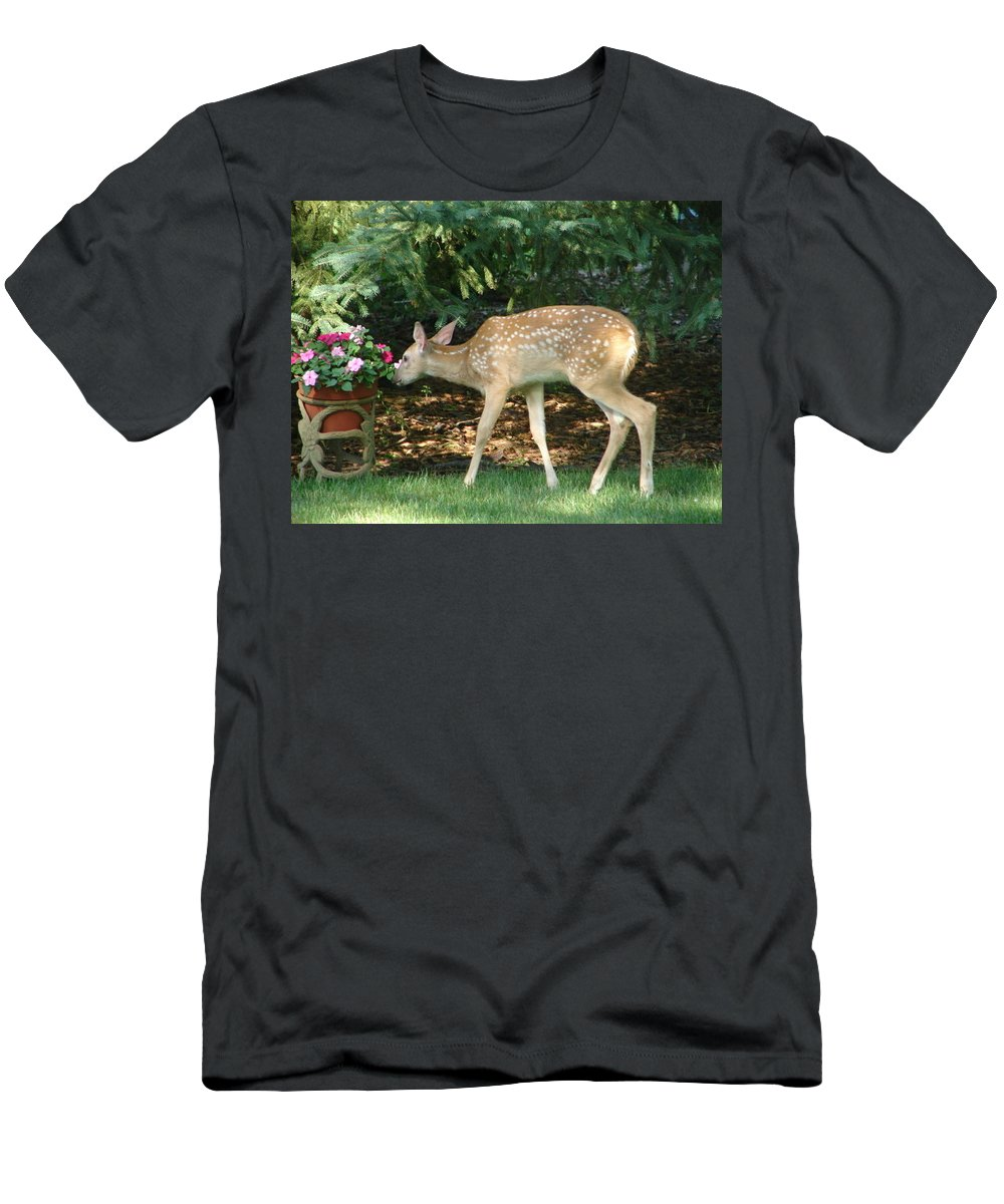 Witetail Deer Men's T-Shirt (Athletic Fit) featuring the photograph Whitetail Deer by Randy J Heath