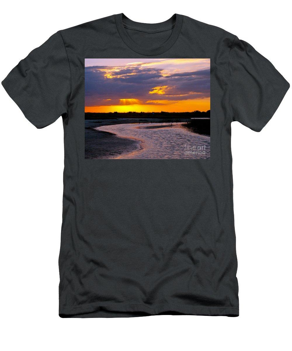 Sunset Men's T-Shirt (Athletic Fit) featuring the photograph Luminous Lavenders by Stephen Whalen