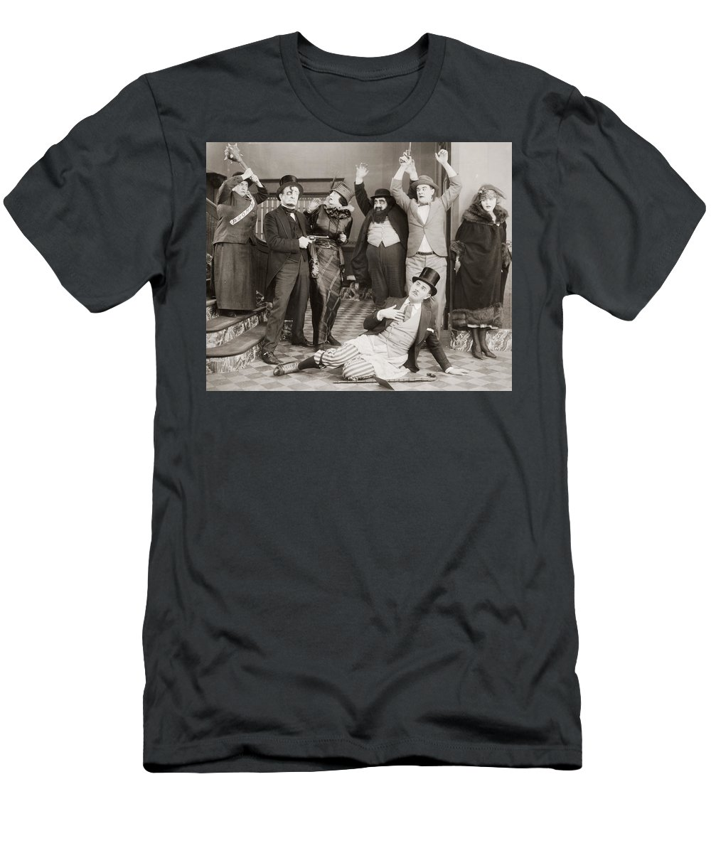 -fights- Men's T-Shirt (Athletic Fit) featuring the photograph 10 Dollars Or 10 Days, 1924 by Granger