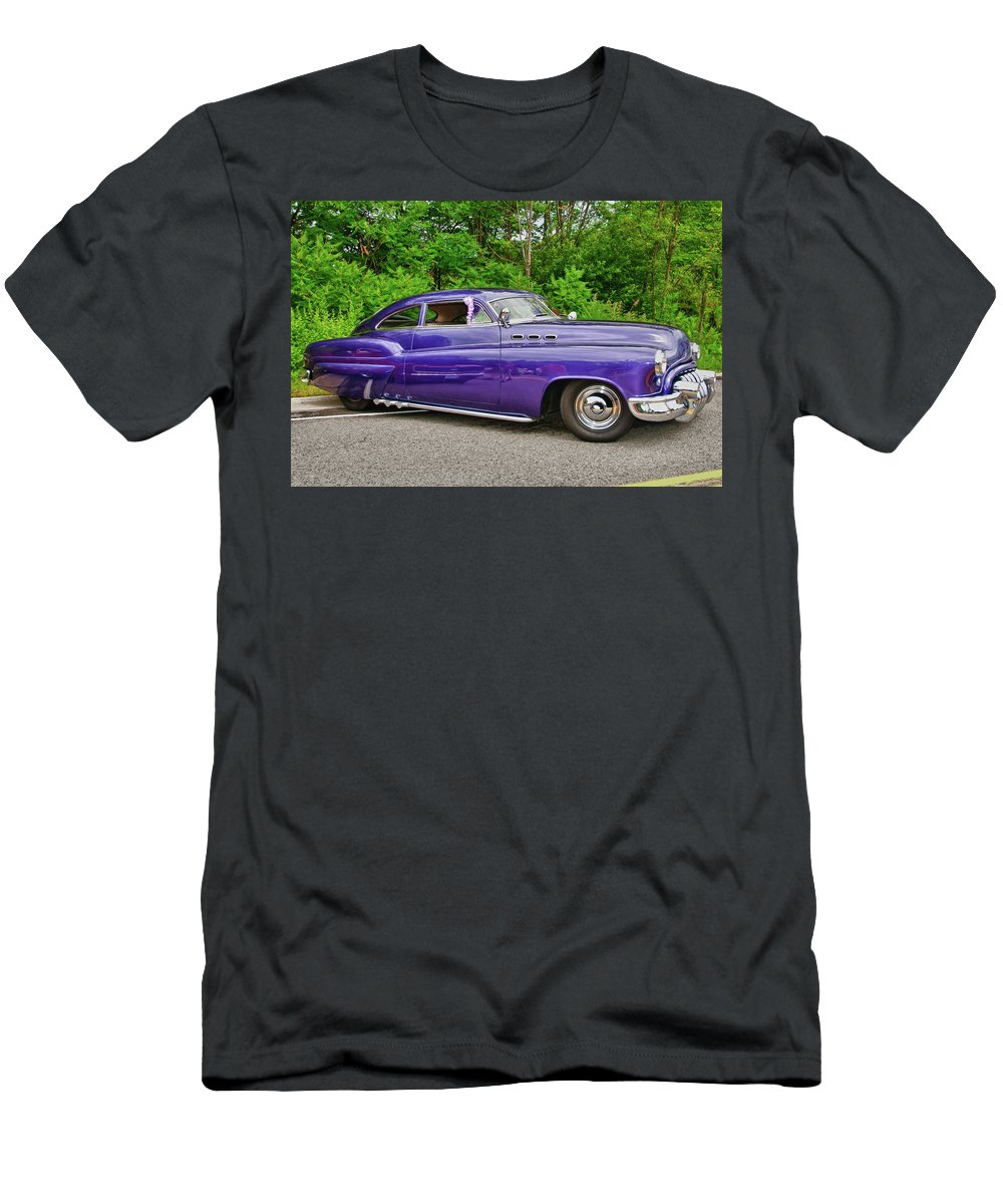 1956 Buick Lead Sled Men's T-Shirt (Athletic Fit) featuring the photograph 1956 Buick  7767 by Guy Whiteley