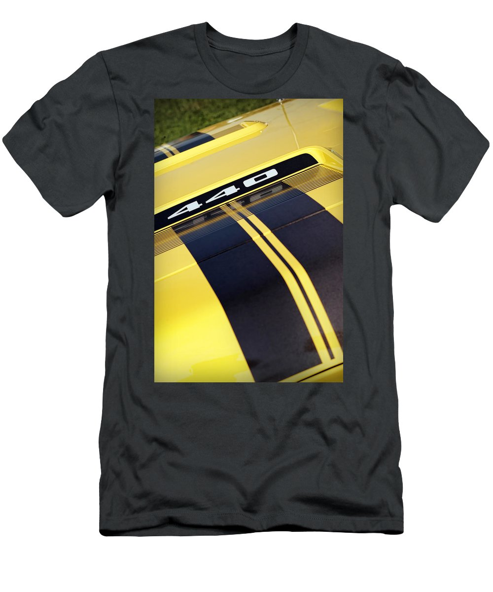 Plymouth Men's T-Shirt (Athletic Fit) featuring the photograph 1971 Plymouth Gtx 440 by Gordon Dean II