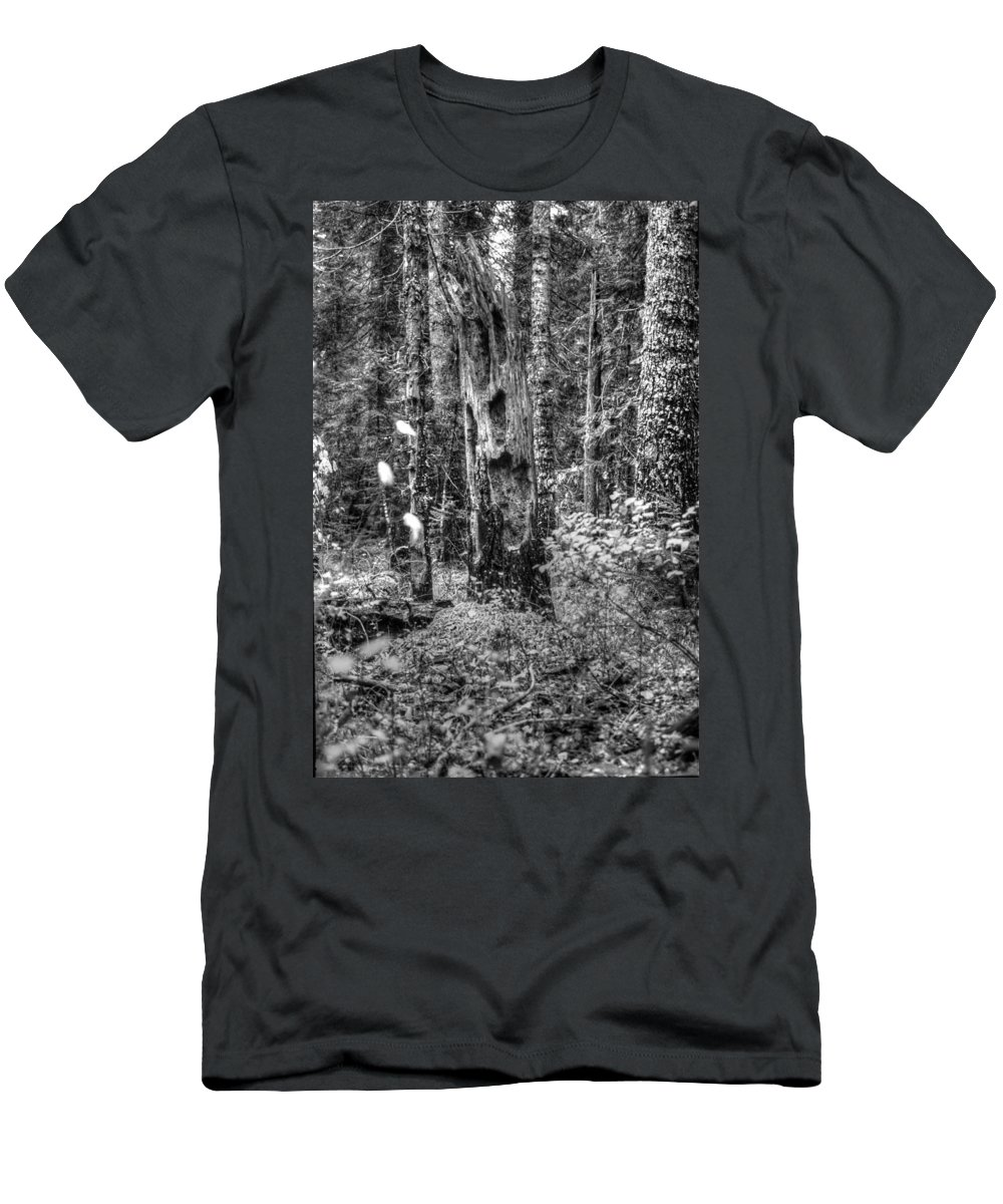 Tree Men's T-Shirt (Athletic Fit) featuring the photograph Back To Nature by One Rude Dawg Orcutt