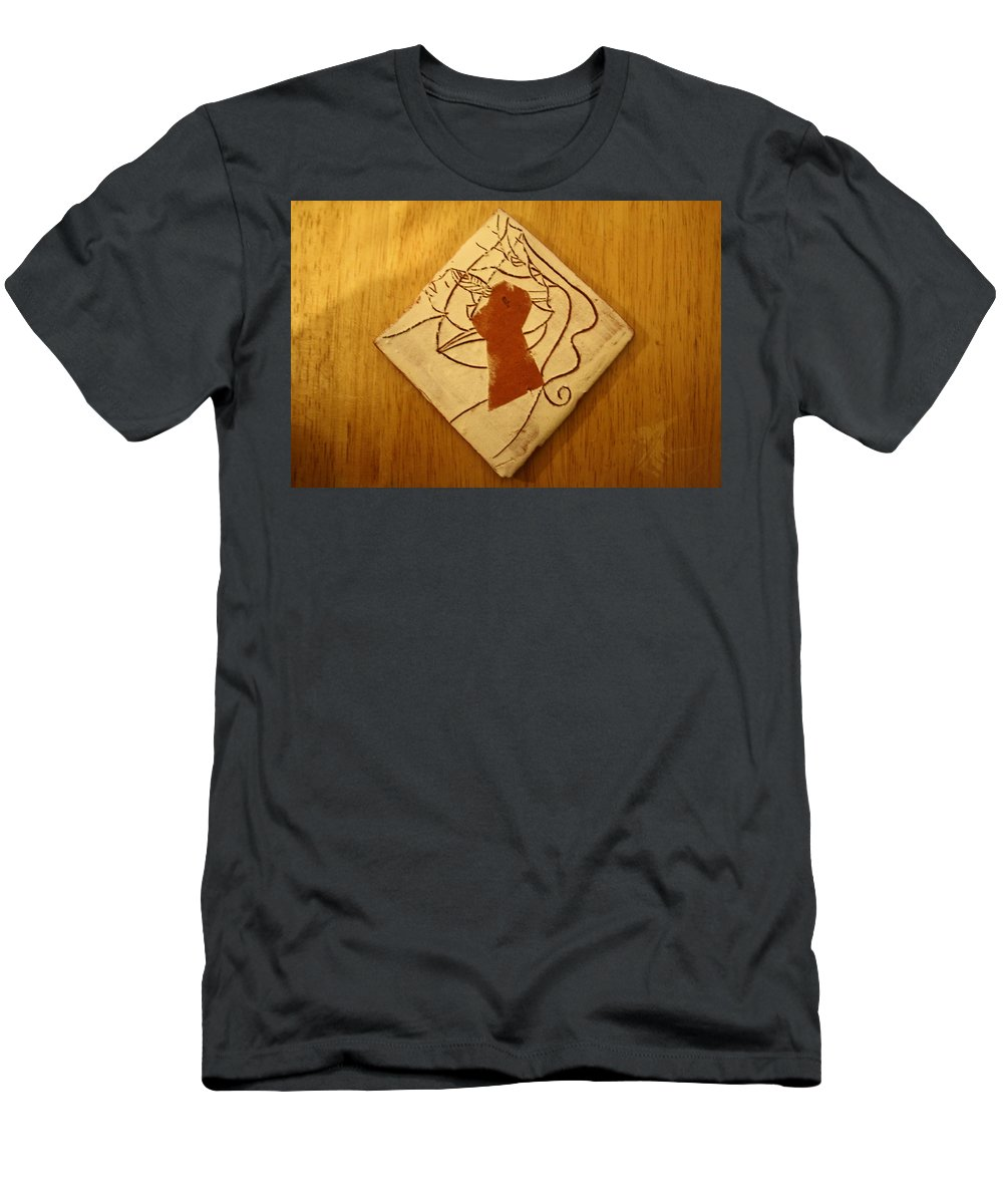 Jesus Men's T-Shirt (Athletic Fit) featuring the ceramic art Centres - Tile by Gloria Ssali