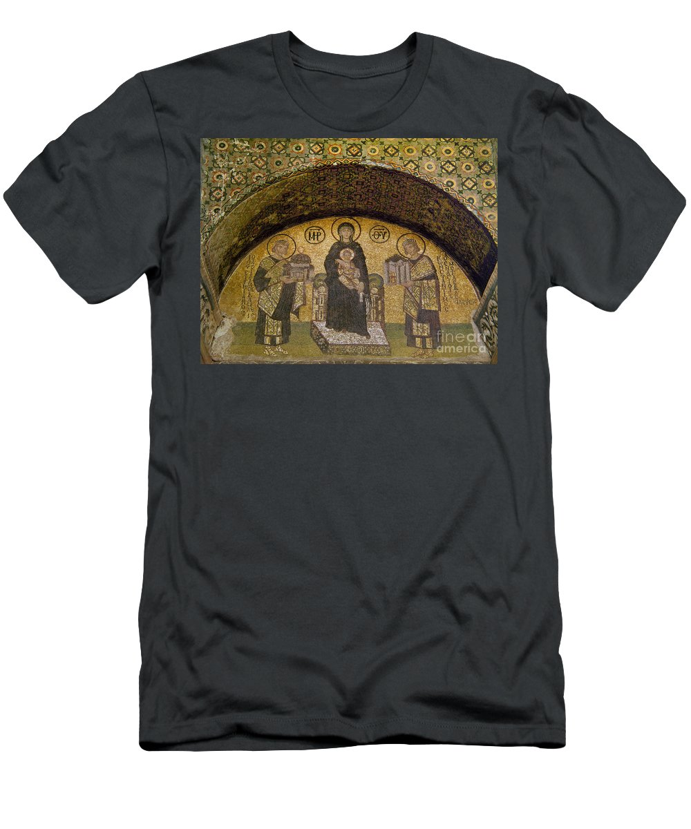 6th Century Men's T-Shirt (Athletic Fit) featuring the photograph Hagia Sophia: Mosaic by Granger
